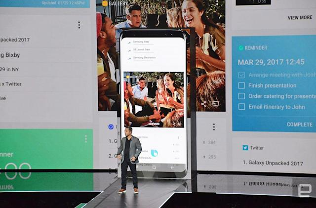 Assign other apps to the Galaxy S8's Bixby button, if you dare