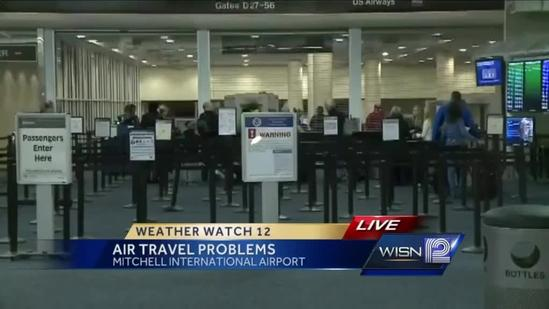 East coast storm cancels some flights out of Milwaukee