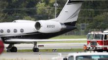 Rapper Post Malone's jet lands safely after 2 tires blow