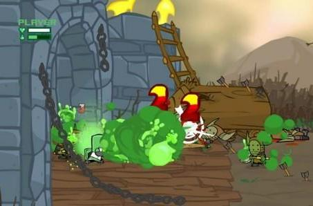 Play Battleblock Theater as a Castle Crashers knight, Alien Hominid guy