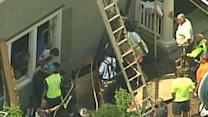 Raw: 2 Hurt in NY Trench Collapse