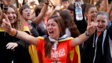 Catalan students rally en masse to kick off protest strike