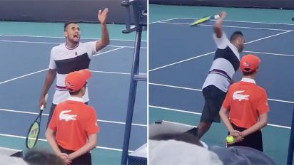 'F***ing disgrace': Kyrgios in huge doubles blow-up