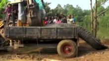 Huge crocodile rescued in Sri Lanka