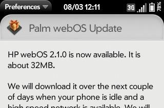 Palm Pre 2 gets official webOS 2.1 update, Classic emulator hacked to work on it