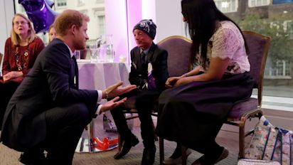 Prince Harry meets 'amazingly brave' children with serious illnesses
