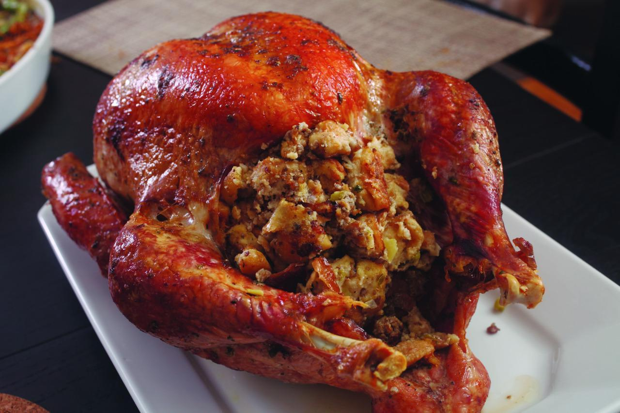 Stuffed Herb-Rubbed Roast Turkey with Gravy from 'The Food ...