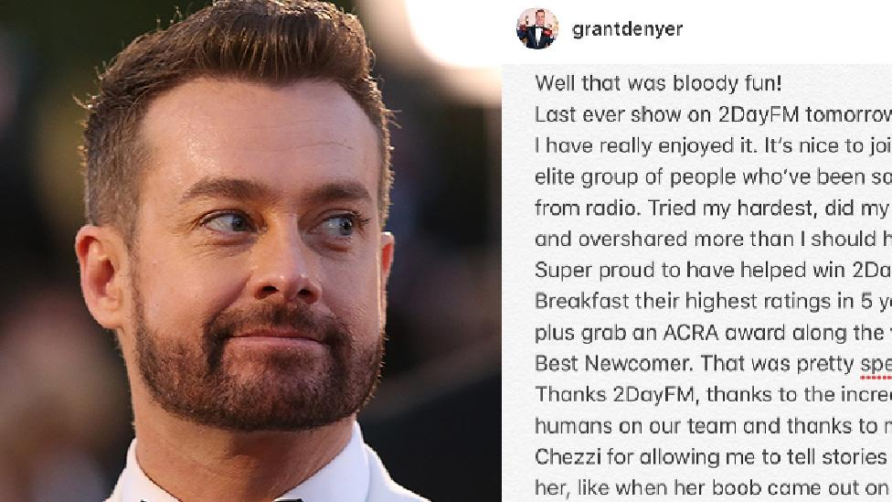 Grant Denyer's cheeky response to axing