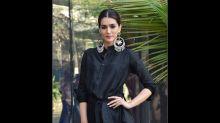 Kriti Sanon Upped Her Fashion Game With Desi Jhumkis, Black Dress, And Chignon Ponytail