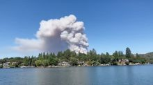 Fast-moving wildfire burns homes, forces evacuations in Northern California