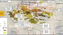 Bonterra Expands Multiple Gold Mineralized Zones at Barry; Highlighted by 7.4 g/t over 14.7 metres, Including 20.6 g/t over 4.9 metres