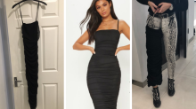 Shoppers suffer fashion fail from dress that 'just fits one thigh'