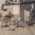 US warship stayed on deadly collision course despite warn...