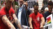 Gay Activists Pour Russian Vodka in NYC Streets