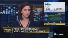 Pier 1 Imports beats on top line