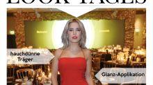 Look des Tages: Sylvie Meis in einem leuchtend roten Versace-Kleid