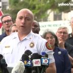 Miami-Dade Fire Rescue says search and rescue efforts continue after an overnight apartment collapse