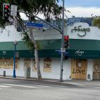 West Hollywood Boards Up With Messages of Support for Protesters