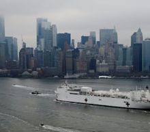 The 1,000-bed Navy hospital ship in NYC was meant to help relieve overburdened hospitals. So far it's 2% full, and a hospital director called it a 'joke.'