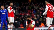 Arsenal out of Europa League as Olympiacos snatch dramatic extra-time winner