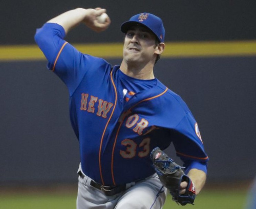 Mets starting pitcher Matt Harvey was roughed up by the Brewers is a disappointing return from his suspension. (AP)