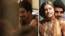 Grazi Massafera e Caio Castro trocam beijos em jantar no Rio