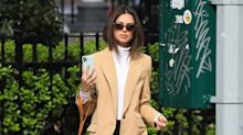 Emily Ratajkowski reveals she has successfully given herself a layered haircut at home in lockdown
