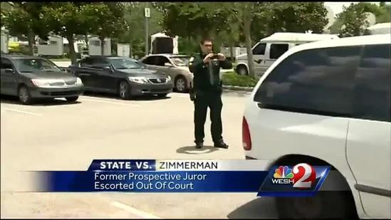Former Zimmerman jury candidate escorted from courthouse
