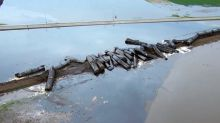 Train from Alberta derails in Iowa, leaking crude oil into floodwaters