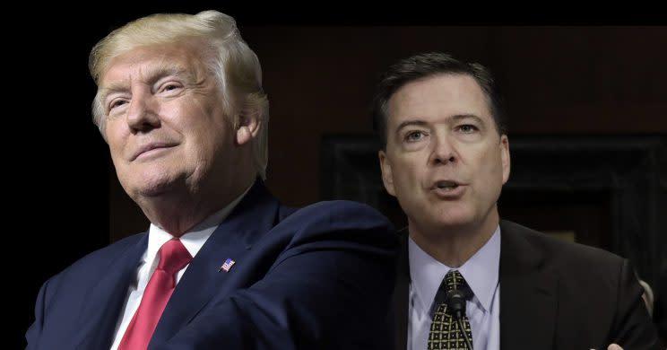 Trump and Comey. (Photo illustration: Yahoo News; photos: Susan Walsh/AP, Kevin Lamarque/Reuters)