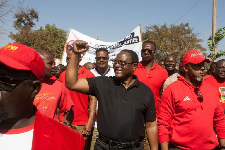 Lazarus Chakwera, seen here campaigning in June 2019, was elected president of Malawi after a rare do-over election