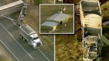 Truck driver thrown from cabin in horrific fatal crash