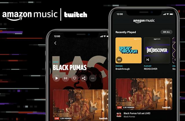 Amazon Music adds artist Twitch streams