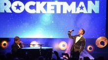 Watch Elton John and Taron Egerton sing together at 'Rocketman' premiere