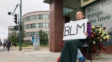 Why this Yellowknife teen spends hours every week holding up a Black Lives Matter sign