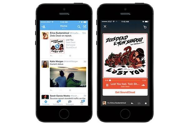 Twitter's Audio Cards bring more music to your social feed