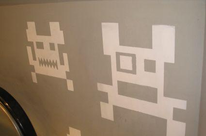 Scenes from Barcelona: Space Invaders invade clothes shop