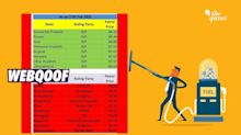 Misleading Infograph on Petrol Prices in Various States Goes Viral