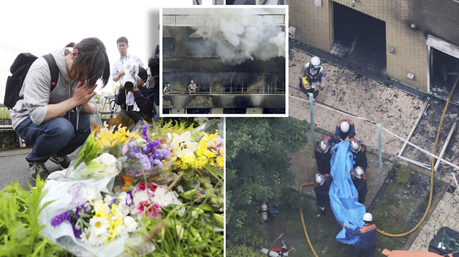 'Like looking at hell': Bodies found piled up in staircases after deadly Kyoto Animation fire