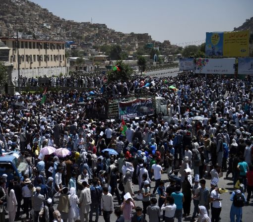 Kabul locked down as Hazaras rally over power line