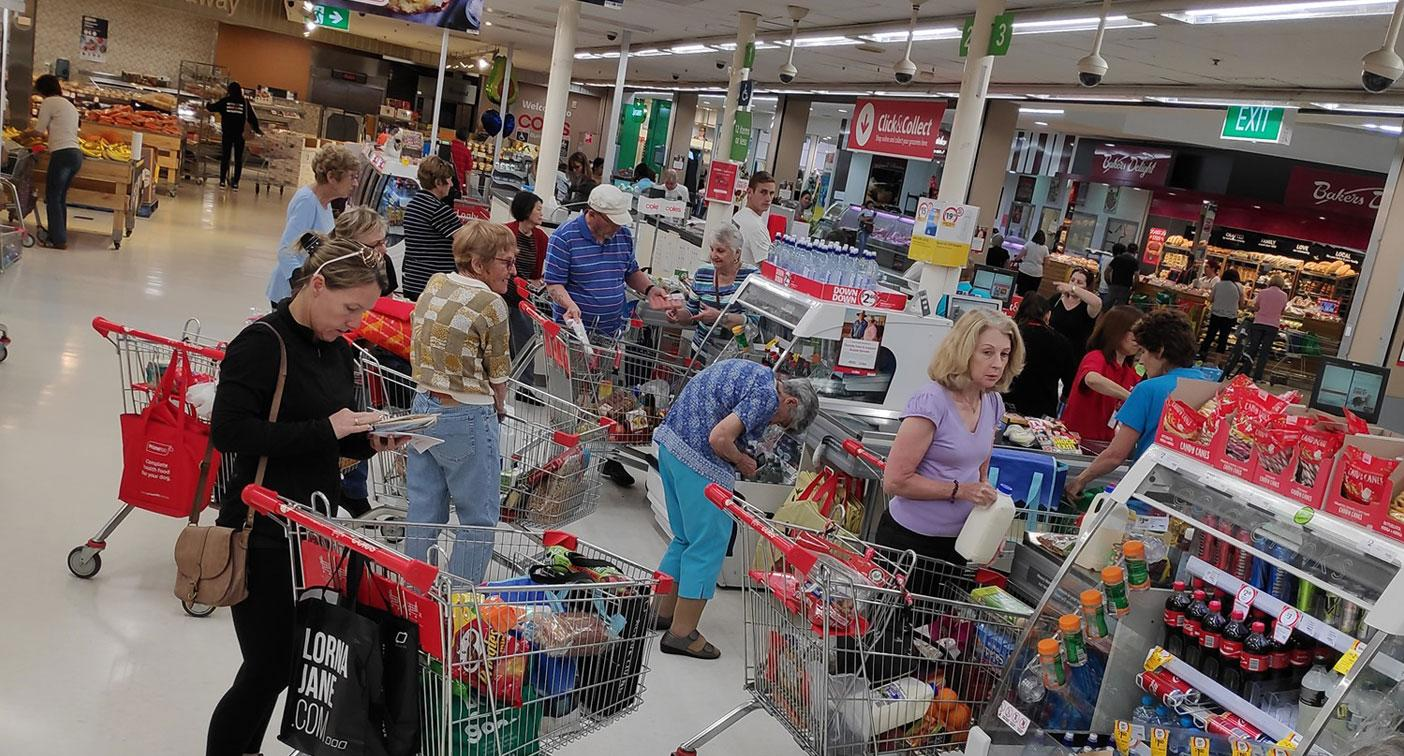 Photo of Coles store highlights problem with 'self-service checkouts'