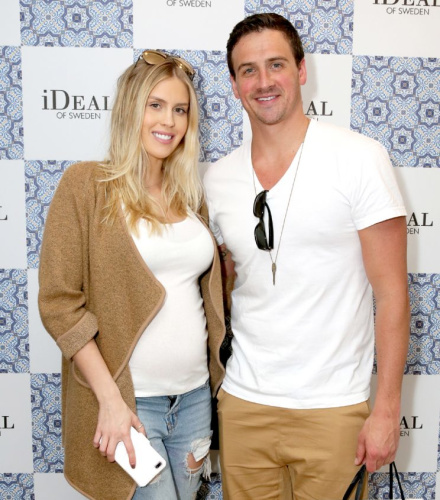 Ryan Lochte and Kayla Rae Reid in February 2017. (Photo by Rebecca Sapp/WireImage)