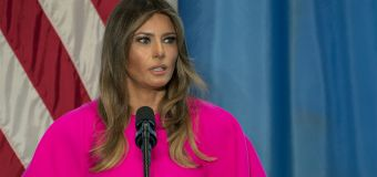 First lady calls for unity after 'Rocket Man' insult