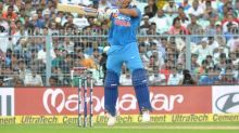 Former captain MS Dhoni's popularity in evidence at Eden Gardens