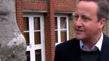 Video of David Cameron 'talking to a tree' in Sky News interview goes viral