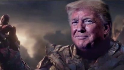 Twitter Jeers After Trump Campaign Video Turns Him Into Marvel Supervillain Thanos: 'Great Meme, Idiots'