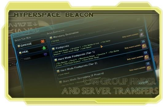 Hyperspace Beacon: SWTOR's group finder and server transfers