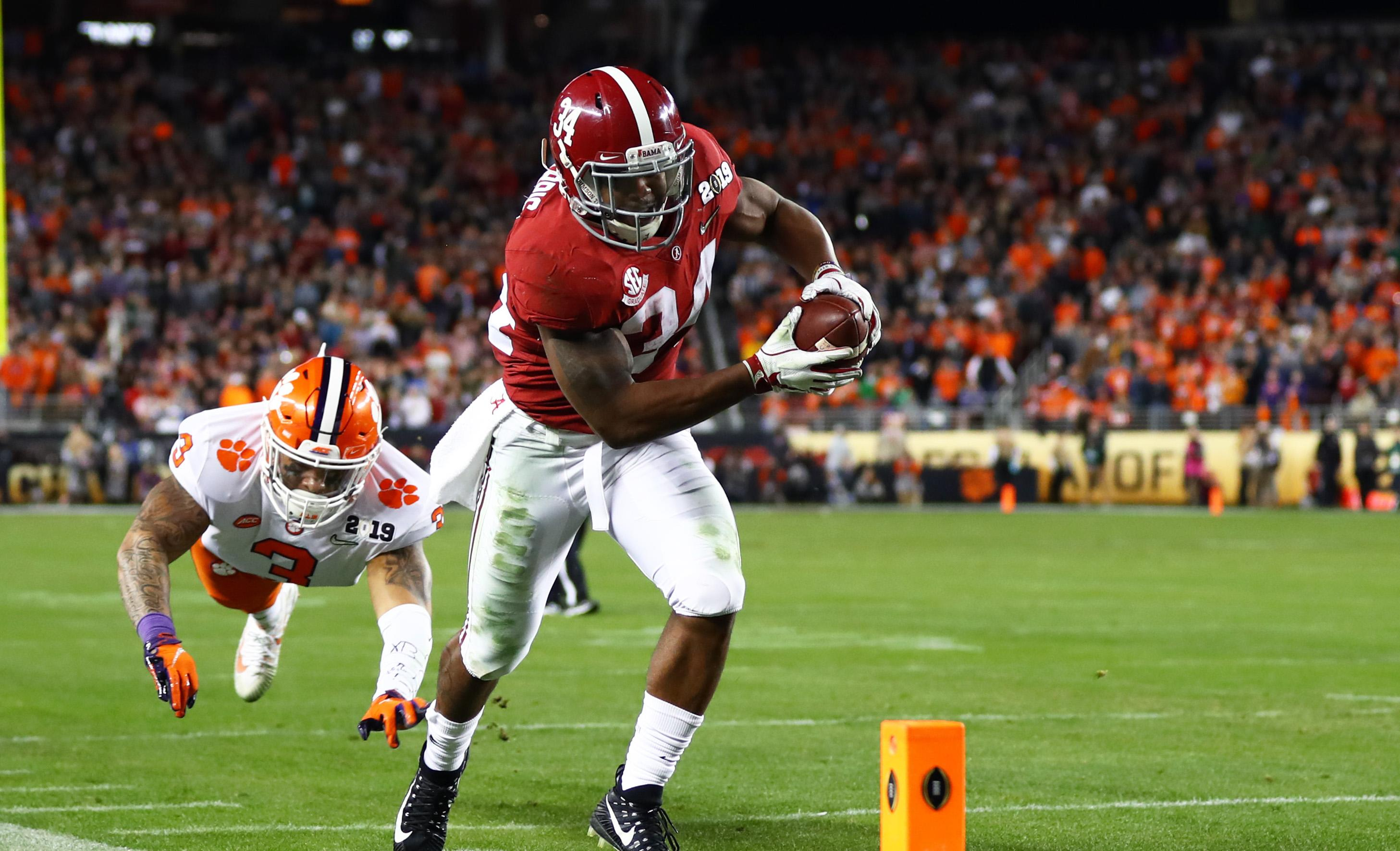 2019 Nfl Draft Patriots Select Alabama Rb Damien Harris With 87th Pick