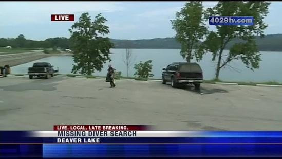 Crews search for missing diver in Beaver Lake