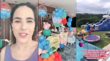 Wanessa Camargo faz festão para o filho em nova mansão